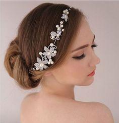Wedding Bridal Tiara Headband Headpiece Prom Rhinestone Bride Hair Accessories