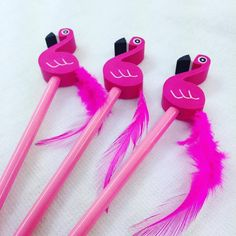 Cute pink flamingo pencil with fun eraser on the top with a feather tail. Perfect addition to party bags. | eBay!