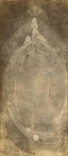 """Cinderella"": photograph of a panel painted on vellum, c.1901-23  Large image: HERE  Margaret Macdonald"