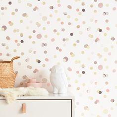 Confetti by Eijffinger - Pink - Wallpaper : Wallpaper Direct Baby Bedroom, Baby Room Decor, Nursery Room, Kids Bedroom, Scandinavian Kids Rooms, Scandinavian Wallpaper, Pink Wallpaper, Wall Wallpaper, Little Girl Wallpaper