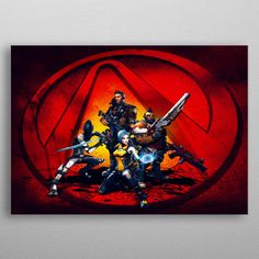"""Beautiful """"The Squad"""" metal poster created by The Artizt . Our Displate metal prints will make your walls awesome. Black Wood, White Wood, 10 Tree, Magnetic Wall, Wood Patterns, Borderlands, Poster Making, New Artists, Cool Artwork"""