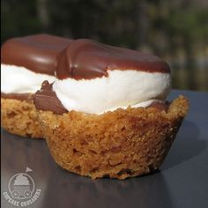 These tiny cups turn the taste of s'mores into one delicious bite.  Get the recipe at Cupcake Crusaders. RELATED: 5 Ways to Take Your Brownies to the Next Level   - CountryLiving.com