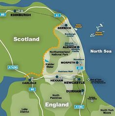 Northumberland Map - my family hails from this area originally Northumberland Map, England Map, Alnwick Castle, The Last Kingdom, North East England, North Yorkshire, Travel Images, Newcastle, Caravan Holiday