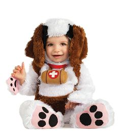 St Bernard Dog Kids Costume.