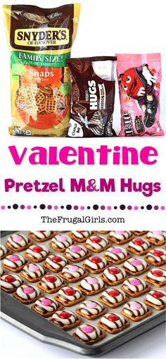 Valentine Pretzel Treats Recipe! ~ at TheFrugalGirls.com ~ Go grab some Hershey Hugs and M&Ms... your family and guests will crazy over these easy little Pretzel Hugs, perfect to share on Valentine's Day! #recipes #thefrugalgirls
