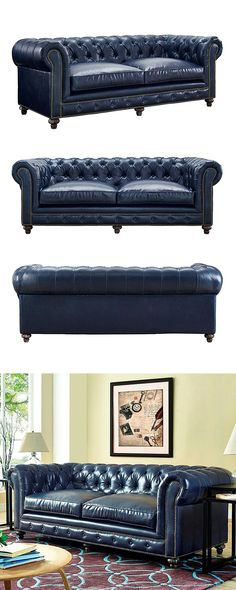 Gordon Tufted Sofa with the Holbrook Coffee Table HomeDecorators
