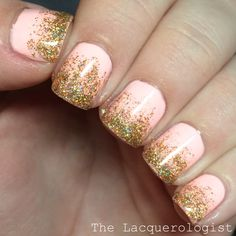 The Lacquerologist: Bachelorette Party Glitter Gradient featuring Color Club & KBShimmer!