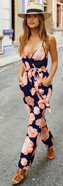 Rocky Barnes Floral Jumpsuit Holiday Style Inspo Source #vacationoutfitsbeach