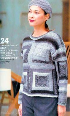 Мастера и умники: Японский журнал LET'S KNIT SERIES со схемами (Вяжем спицами) №4