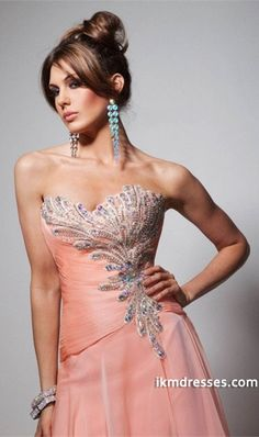 http://www.ikmdresses.com/Beautiful-Beaded-Dress-Sweetheart-A-Line-With-Slit-p84306