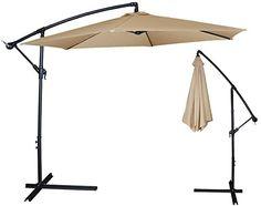 10ft out door deck Patio Umbrella Off set Tilt Cantilever Hanging Canopy tan New Unbrand http://www.amazon.com/dp/B00OT7H8A0/ref=cm_sw_r_pi_dp_dmenvb0B4HFQD
