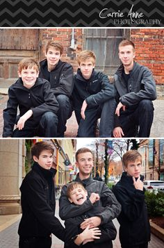 Carrie Anne Photography- Grand Rapids Children and Family Photographer - Four Brothers