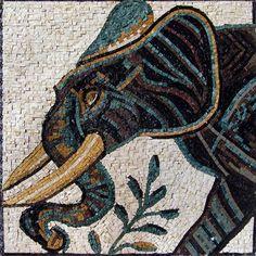 Elephant Marble Mosaic