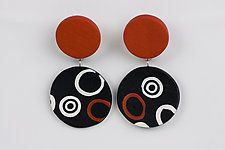 "Sandra Earring by Klara Borbas (Polymer Clay Earrings) (1.3"" x 0.3"")"