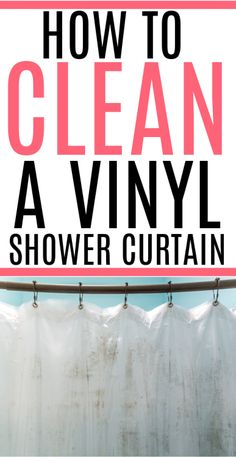 Get rid of mold and mildew the easy way. Check out how to easily clean a vinyl shower curtain. No scrubbing required. The washing machine takes care of all the dirty work.
