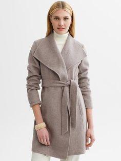 Banana Republic | Belted wool wrap coat #BRAnnaK                                                                                                                                                                                 More