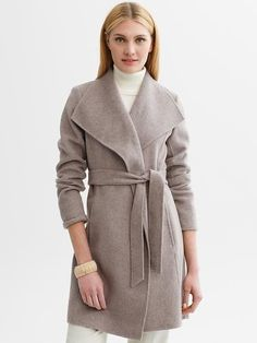 Banana Republic | Belted wool wrap coat #BRAnnaK