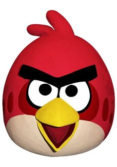Angry Birds Red Bird Mask: This Angry Birds Red Bird Mask gets you ready to help and encourage the other birds to destroy the pigs' fortifications and recover your stolen eggs. #halloween #mask #costume #accessories http://www.riocodes.com/halloweencostumes-coupons.html