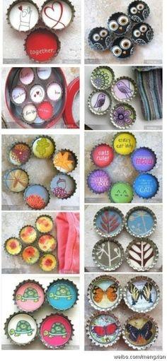crafty bottle caps