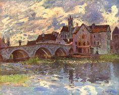 Bridge of Moret by Sisley