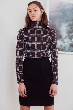 Fully Lined with back zip fastening. Wool Made in France In Perfect Vintage Condition. Classic Mini, Karl Lagerfeld, Mini Skirts, Turtle Neck, Sweaters, Vintage, Fashion, Moda, Fashion Styles