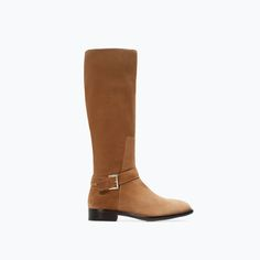 BUCKLED FLAT LEATHER BOOT-Shoes & Bags-Pre-Sale-WOMAN-SALE   ZARA United States