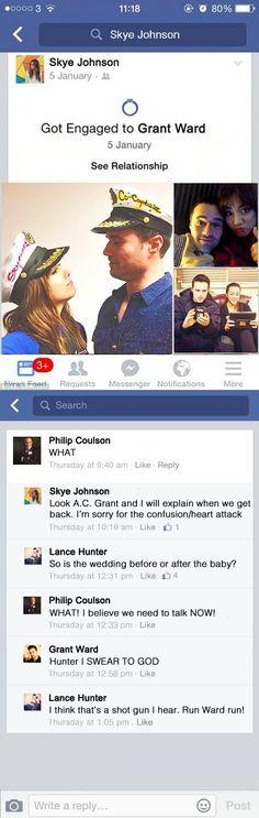 Engaged || Skye, Grant Ward, Phil Coulson, Lance Hunter || Team Bus + Social Media || #fanedit #humor #skyeward