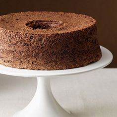 Chocolate Angel Food Cake, 2 of my all time favorites, chocolate and angel food cake, now combined into one!