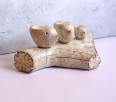 Lovebirds...Parents and a baby ... handmade polymer by SkyeArt, $78.00