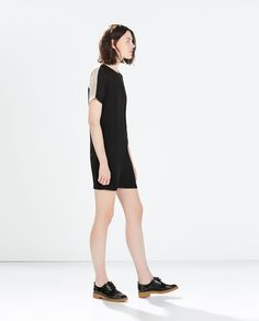 Image 1 of EYELET YOKE DRESS from Zara