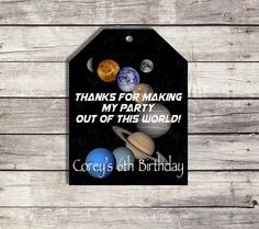 Solar System Favor Tags, Printable Planet Thank You Tags, Space Printable Favor Tags for Goodie Bags - Personalized - Astronaut Theme by PrintablePartybyFinn on Etsy
