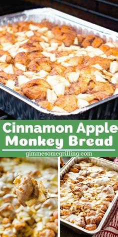 Easy and delicious Monkey Bread stuffed with tender, juicy apples and topped with icing. This Apple Monkey Bread on the grill is perfect for camping or mornings when you don't want to heat the house up! You can also make it in the oven! Grill Breakfast, Apple Breakfast, Camping Breakfast, Breakfast Recipes, Grilling Recipes, Gourmet Recipes, Dessert Recipes, Healthy Recipes, Keto Apple Recipes