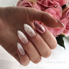 Polka Dot Nails If you love polka dots you're going to love these gorgeous nail designs we've gathered up. Take a look and get inspired by some of the best polka dot nails. Cute Acrylic Nails, Cute Nails, Pretty Nails, Acrylic Art, Polka Dot Nails, Pink Nails, Polka Dots, Rose Gold Glitter Nails, Pink Manicure