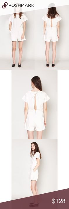 Rachel Comey Denim Romper Off White denim romper by Rachel Comey.   - I believe it's true to size since I wear size 2 in Rachel Comey and this is a bit too big for me. It's also designed to have a roomy fit.   - 99% cotton. 1% elastic.   - Good condition. Rachel Comey Pants Jumpsuits & Rompers