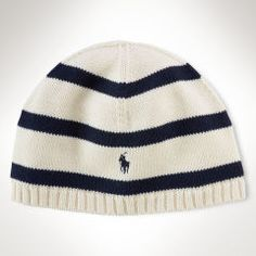 Rugby-Striped Cotton Skull Hat - Boys 8-20 Accessories - RalphLauren.com