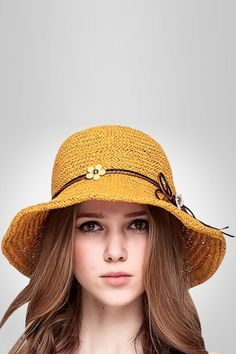 Cute Lace Up Straw Hat