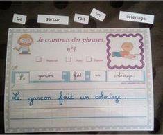 Production d'écrits : Je construis des phrases CP