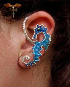 Custom seahorse ear cuff ear wrap by RockTime on Etsy, $30.00