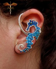 Custom seahorse ear cuff ear wrap by RockTime on Etsy, $30.00