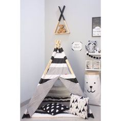 #monochrome #kids #baby #interior #teepee