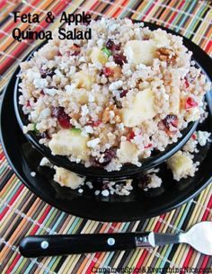 Feta, Apple and Cranberry Quinoa Salad by Cinnamon Spice and Everything Nice