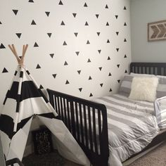 Triangle Wall Decals - Wall Tribe  A very fast and affordable way to transform your wall. Easy to apply and ships fast.