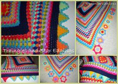 Stars and triangles: unique crochet edgings