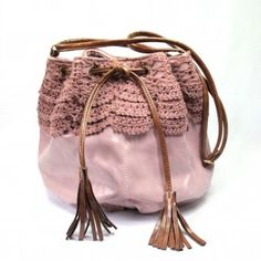 Angie Crochet Bag in Pink