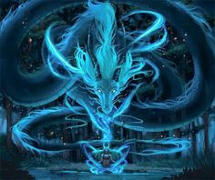 Dragon Soul This is perfect. : Dragon Soul This is perfect. Mythical Creatures Art, Mythological Creatures, Magical Creatures, Water Dragon, Blue Dragon, Girl Dragon, Sea Dragon, Fantasy Magic, Fantasy Forest