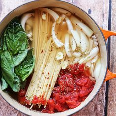 One Pot Organic Tomato Basil Pasta