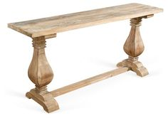 """Etta 67"""" Console Table, Weathered Sand"""