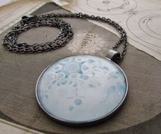 Full Moon Month Necklace - February Snow Moon - Luna Necklace - Celestial Jewelry - Blue Moon - Birthday Gift - Gift for Woman - Luna Month by digiliodesigns on Etsy