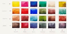 Jane Blundell: My Palette. Updated December 2013 - info on how to mix several of the colors