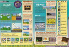 Super Mario All-Stars - SNES Revista Acao Games 42, Pagina 12 - 13.jpg (2419×1670)